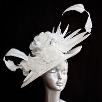 Magnificent Mother of the Bride white hatinator 14809/SD285